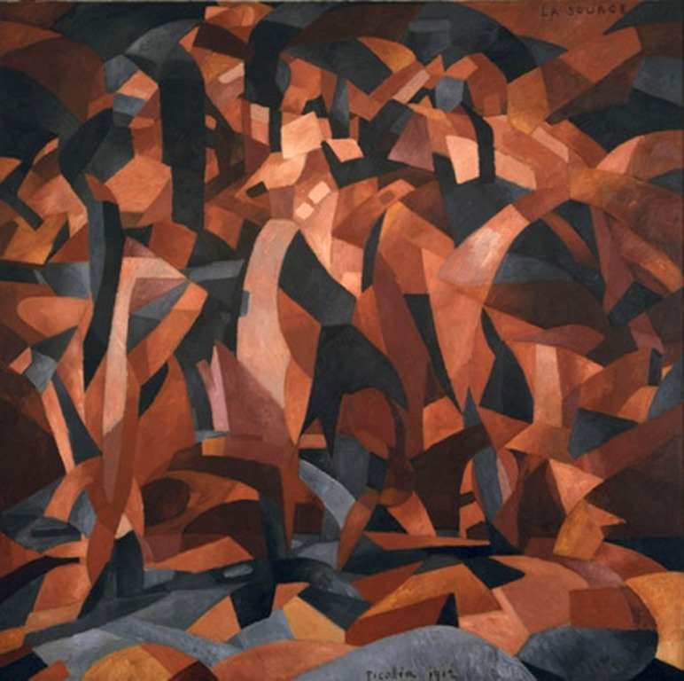 Francis Picabia 1912 La Source The Spring oil on canvas 249.6 x 249.3 cm Museum of Modern Art New York. Exhibited 1912 Salon dAutomne Paris