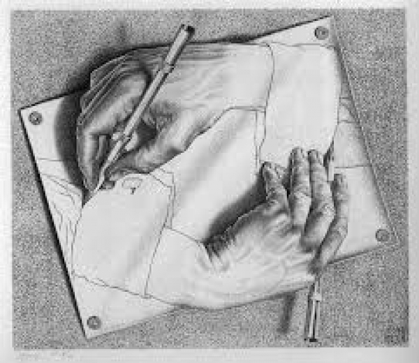 M.C.Escher's, «Drawing Hands»